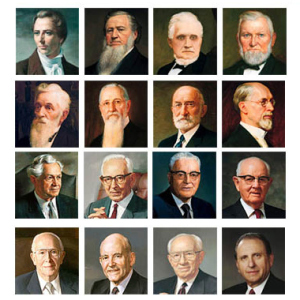 the presidents of the church of jesus christ of latterday